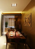 Trendy dining room — Stockfoto