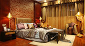 Trendy bedroom — 图库照片