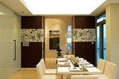 Trendy dining room — Stock Photo