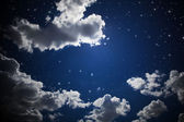A blue cloudy sky — Stock Photo