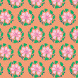 Set seamless wallpaper old flower decorative vintage — Stock Photo