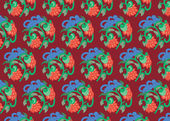 Colorful seamless patterns with fabric texture — Stock Photo