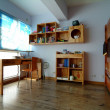 Wood like home Modern interior — Stok fotoğraf