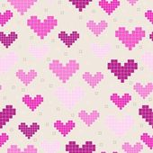 Hearts seamless pattern — Vettoriale Stock