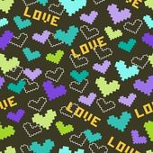 Love and heart. Pattern — Stockvector