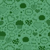 Seamless texture with hearts. — Stock Vector