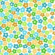 Stock Vector: Seamless pattern with small flowers