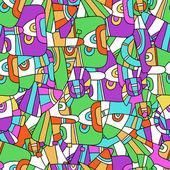 Nahtlose abstrakte muster — Stockvektor