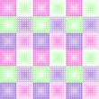 Geometric pattern with colored circles — ベクター素材ストック
