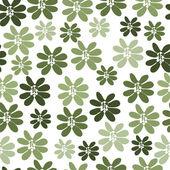 Modèle sans couture avec fleurs vertes — Vecteur