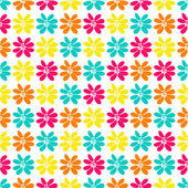 Seamless pattern with a lot of bright flowers — Stock Vector