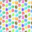 Royalty-Free Stock Vector Image: Seamless pattern with coloured scrawl