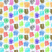 Seamless pattern with coloured scrawl — Stock Vector