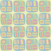 Sömlös abstrakt mönster i pastellfärger — Stockvektor