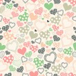 Seamless pattern with hearts on a light background — Stock Vector