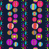 Seamless pattern with bright abstract shapes — Stock Vector