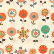 Seamless flower pattern — Stockvektor