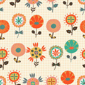 Seamless flower pattern — Stock Vector