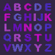 Pixel alphabet with colored letters — Stock Vector
