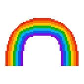 Illustration pixel rainbow — Stock Vector