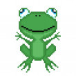 Illustration pixel frog — Vettoriale Stock #28832015