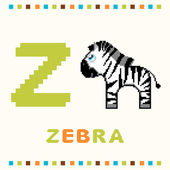 Alphabet for children, letter z and a zebra isolated — Vector de stock