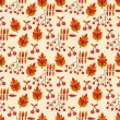 Autumn seamless pattern with wild berries — Stock Vector