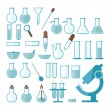 Laboratory equipment set — Stock Vector