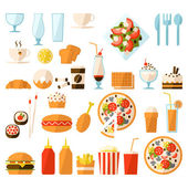 Fast food set — Stock Vector
