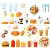 Fast food set — Stock Vector