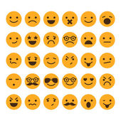 Set of different smileys vector — Stock Vector