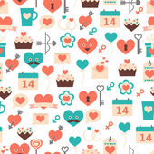 Seamless pattern for Valentine's day, date and weddings — Stock Vector