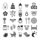 Set of baby icons — Stock Vector