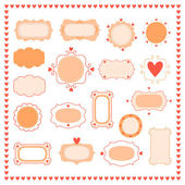 Set romantic frames — Stock Vector