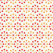 Seamless background with hearts — Vector de stock