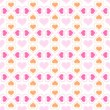 Seamless pattern with hearts — Stock Vector #39969785