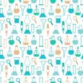 Seamless pattern with laboratory equipment — Stock Vector