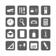 Set of office stationery icons — Stock Vector