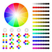 Color wheel with shade of colors,color harmony — Stock Vector