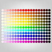 Color palette with shade of colors — Stock Vector