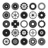 Set of gear wheels isolated on white background — Stock Vector