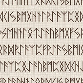 Seamless pattern of runes — Stock Vector