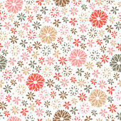 Seamless floral pattern, endless background — Stock Vector