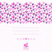 Romantic background of heart with space for text  — Stock Vector