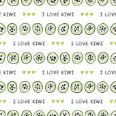 Seamless pattern with kiwi — Vetorial Stock