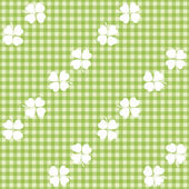 Seamless decorative floral pattern with clover, shamrocks — Vecteur