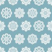 Sömlös jul mönster med snöflingor — Stockvektor