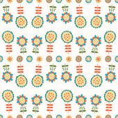 Seamless color decorative flower pattern — Stock Vector