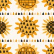Seamless pattern with sunflower and seeds — Stock Vector #50165571