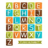 Funny alphabet for children  — Stock Vector